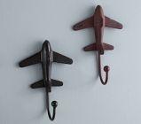 Rustic Metal Plane Hooks | Pottery Barn Kids