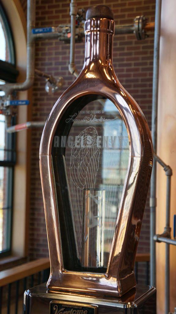 Angel's Envy Distillery Spirit Safe in Shape of Angel's Envy Bottle