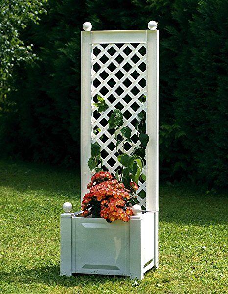pflanzkasten mit rankgitter 43 cm wei pflanzk bel selber machen pflanzk bel bepflanzen. Black Bedroom Furniture Sets. Home Design Ideas