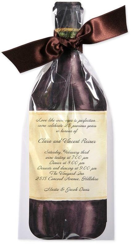 Wine party invitation idea