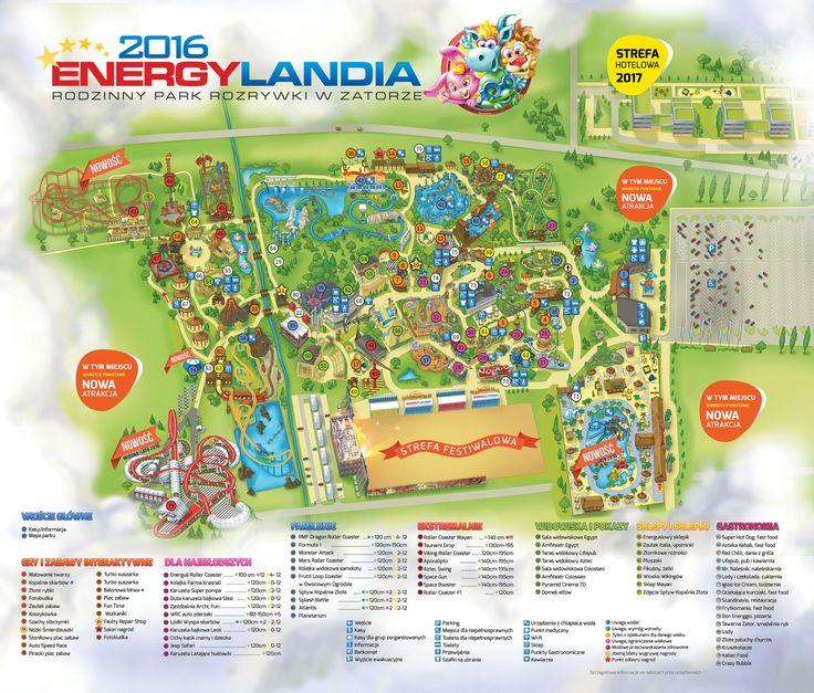 Mapa Parku – ENERGYLANDIA – Rodzinny Park Rozrywki w Zatorze