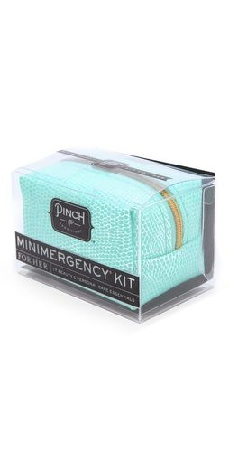 Travel Emergency Kit. I totally bought one of these for my travel stash. It's got everything you need.. and it's a cute gift for friends getting ready to take a trip!
