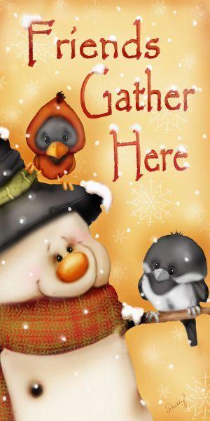 Christmas Snowman 'Friends Gather Here' Bonecos de Neve - Leda - Picasa Web Albums