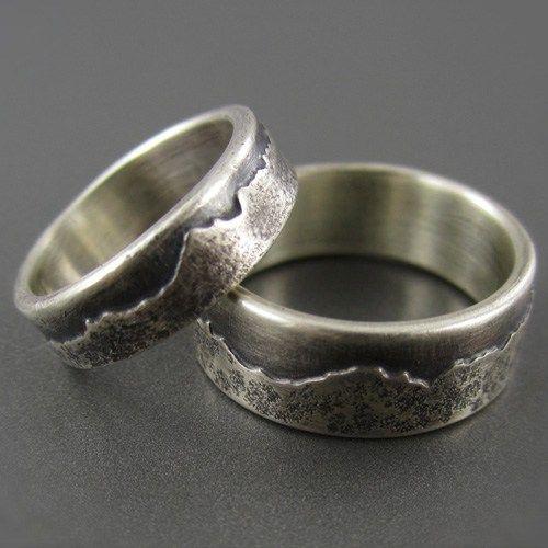 Mountain Ring Wedding Ring  | 28 Unique Wedding Rings for Men