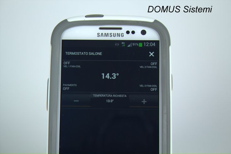 Thermostat on smartphone, of intuitive use, to regulate the temperature in your home or office.
