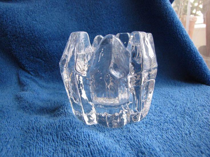 Sweden Crystal glass Candelabra Lindshammar Glasbruk Sweden Chr Sjogren #LindshammarSwedenChrSjgren