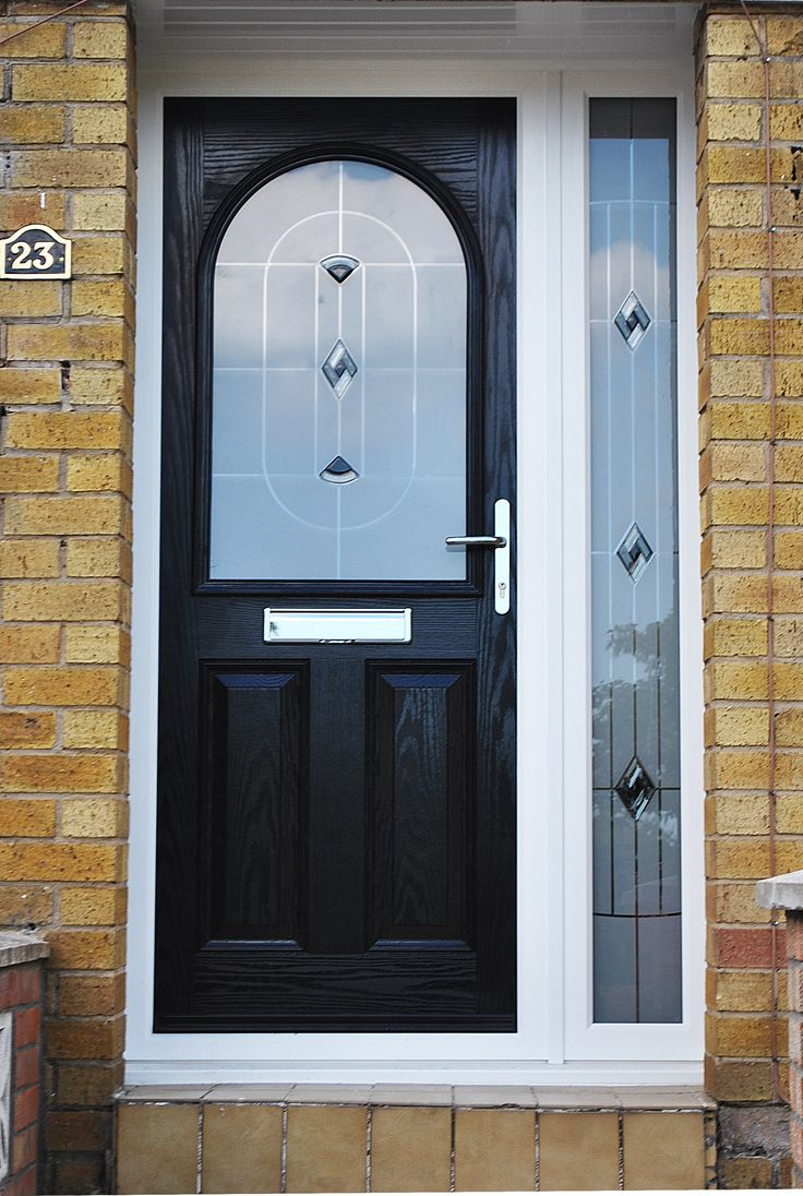 25 best ideas about black composite door on pinterest for Exterior french doors both sides open