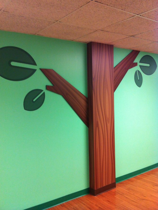 2d Trees Used In Children S Themed Environments Scenery For Church Pinterest