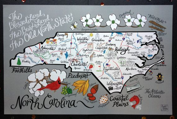 15 Maps of North Carolina That Are Just Too Perfect
