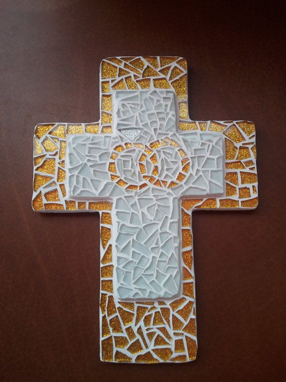 Mosaic Wedding Cross by stashascreations on Etsy, $45.00