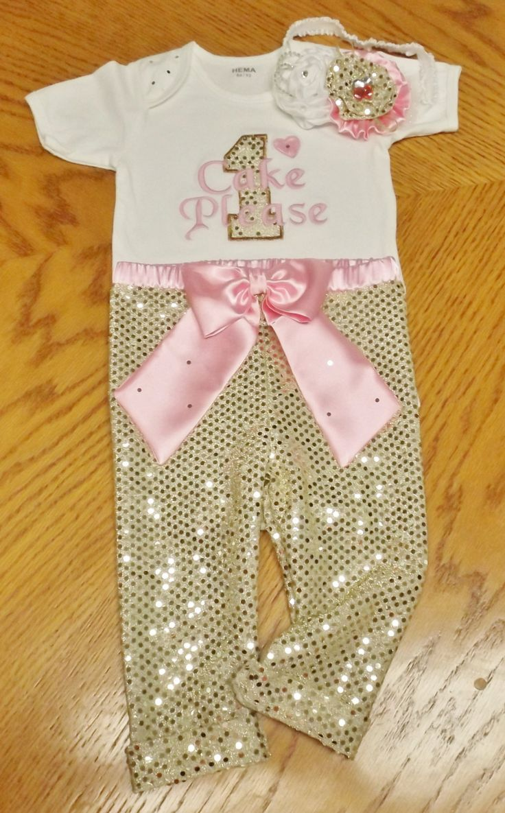Gold Sequin Birthday Outfit Leggings One Piece Romper Fancy Headband by AntoinetteExclusives on Etsy
