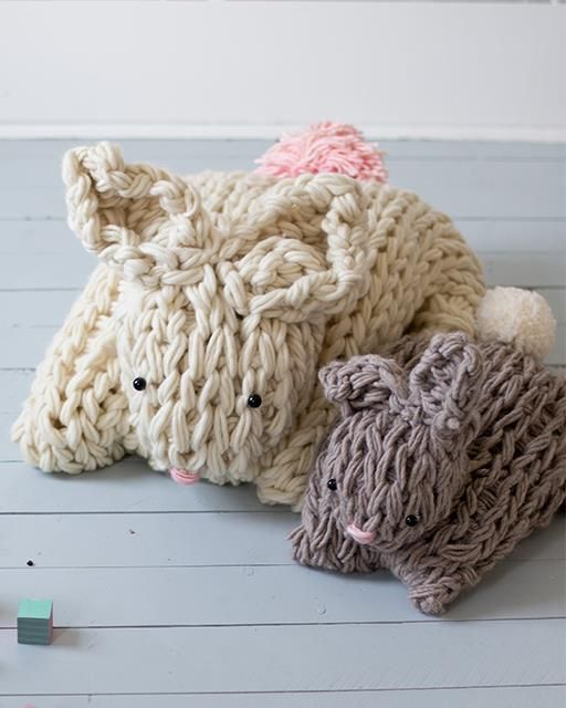 Giant Arm Knit Bunny by Anne Weil (yeah right. In imaginary land after I've literally made every single other thing I've ever pinned )