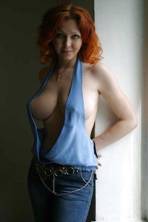 Hot tall redhead girl nude #4