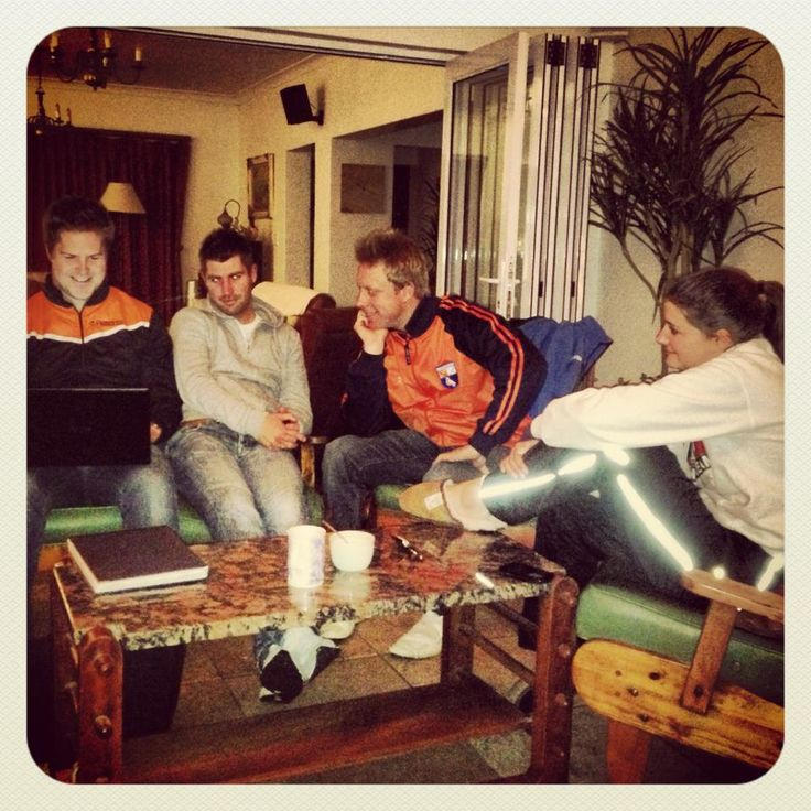The RTFH team meeting at the Thonissen's house. www.ridingtheforgottenhighway.com
