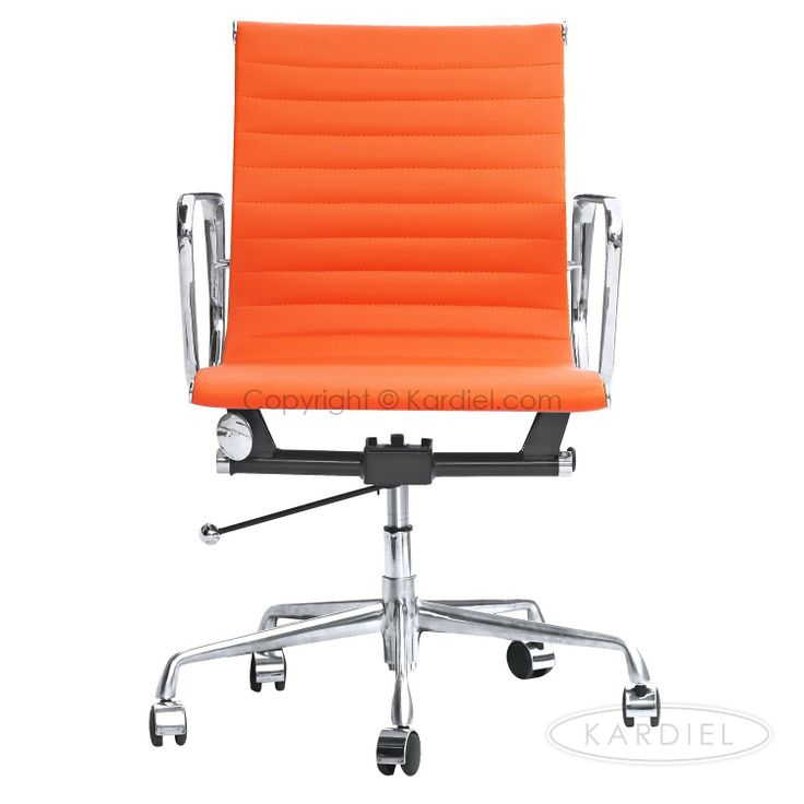 Amazon.com   Kardiel Classic 1958 Lider Ribbed Mid Back Aluminum Office  Chair, Orange
