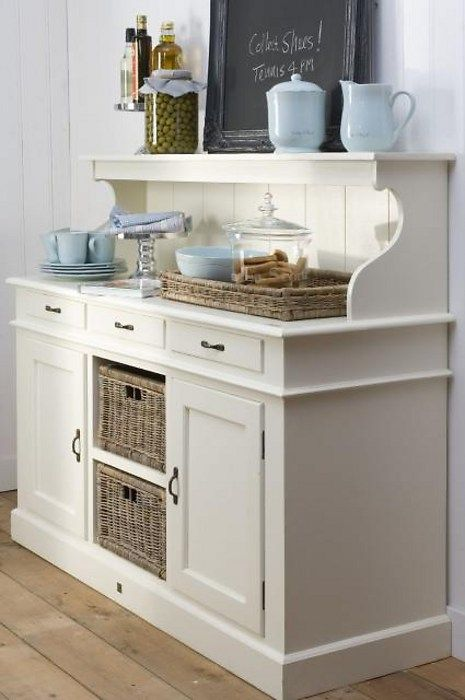 ♥ Serving Station..... this would be a great makeover project from an old hutch