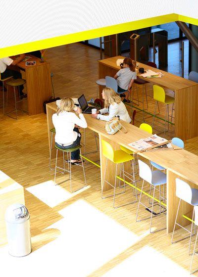 Hot Desk Areas :: microsoft 03 Hotdesking at Microsofts Amsterdam Headquarters