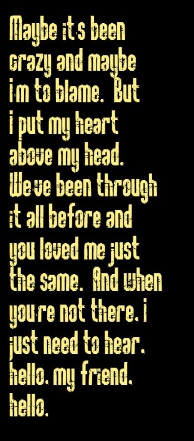 Neil Diamond - Hello - song lyrics, music lyrics, song quotes, music quotes, songs