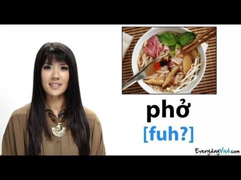 Learn Vietnamese: Lesson 15: Vietnamese Food: How To Pronounce Pho, Banh Mi & More - YouTube