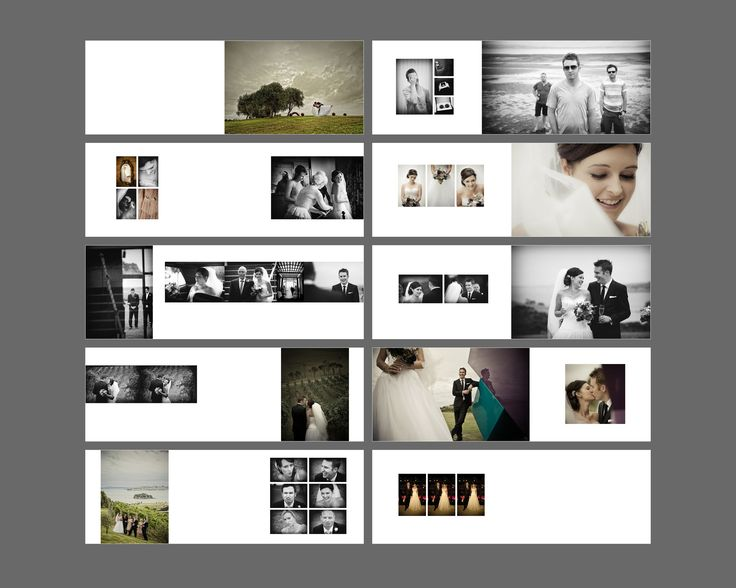 A really appealing mix of contrasts - muted colour and greyscale, really large images balanced with multiple small ones, strong vertical and horizontal arrangements.