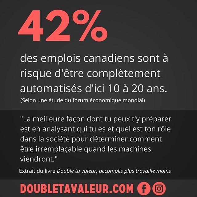 Pour s'assurer de conserver sa valeur dans le marché, il faut être proactif! #doubletavaleur #doubletavaleur.com #blogue #blog #productivité #efficacité #gtd #getthingsdone #travail #emploi #entrepreneur #intrapreneur #entrepreneuriat #intrapreneuriat #qc #québec #ebook #automatisation