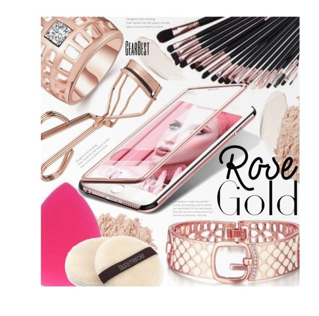 """""""So Pretty: Rose Gold Jewelry"""" by beebeely-look ❤ liked on Polyvore featuring beauty, La Mer, Tweezerman, Laura Mercier, jewelry, rosegold, beautyproducts, makeupbrushes and gearbest"""