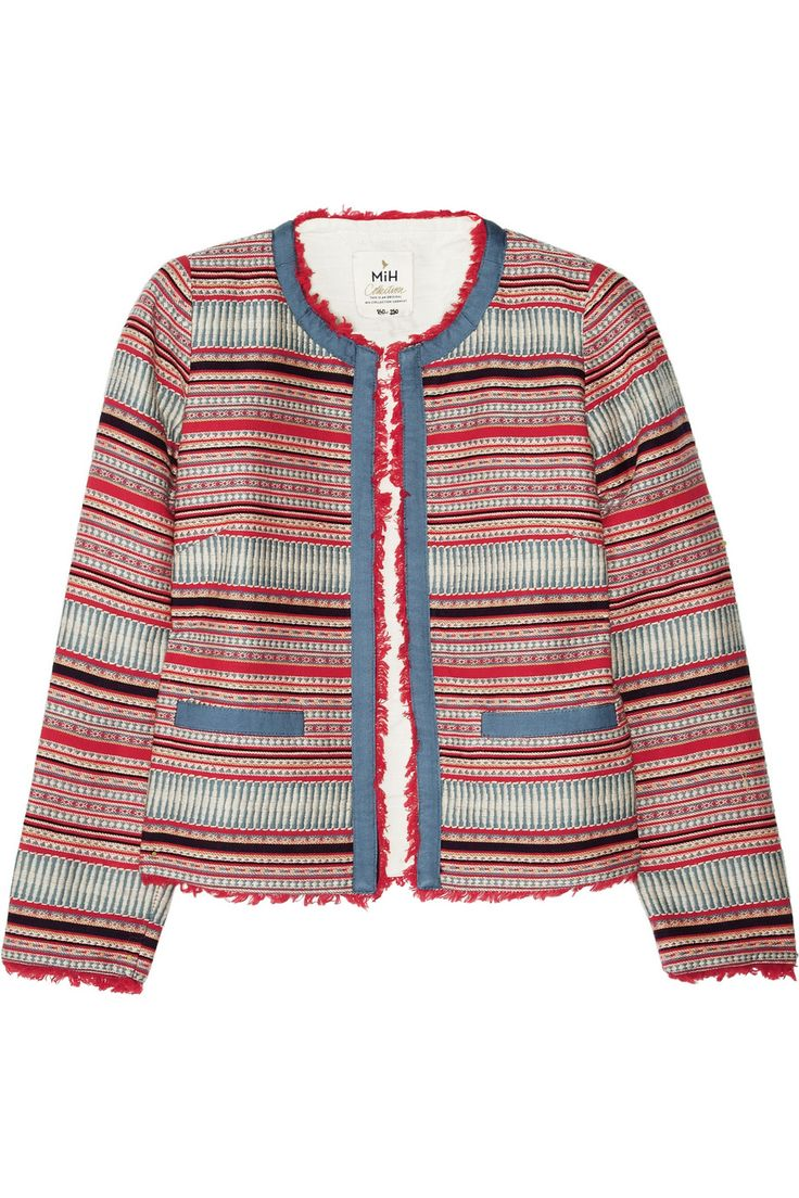 MiH Jeans' cropped woven jacket, $495
