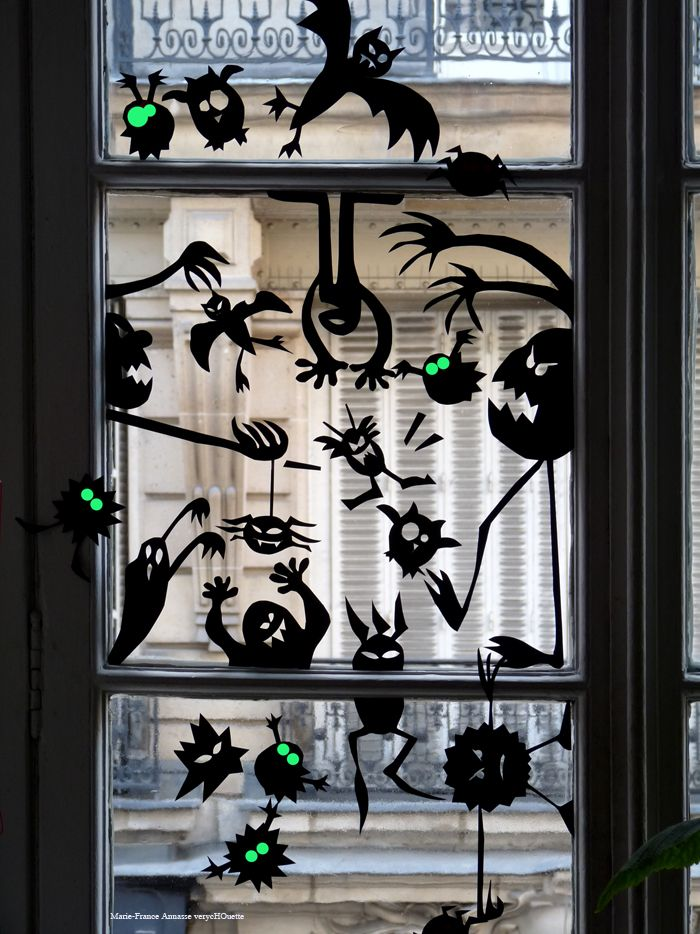 Deco fenetre halloween for Decoration fenetre halloween