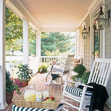 45 ideas for warm and welcoming porches - Pretty Porches And Patios