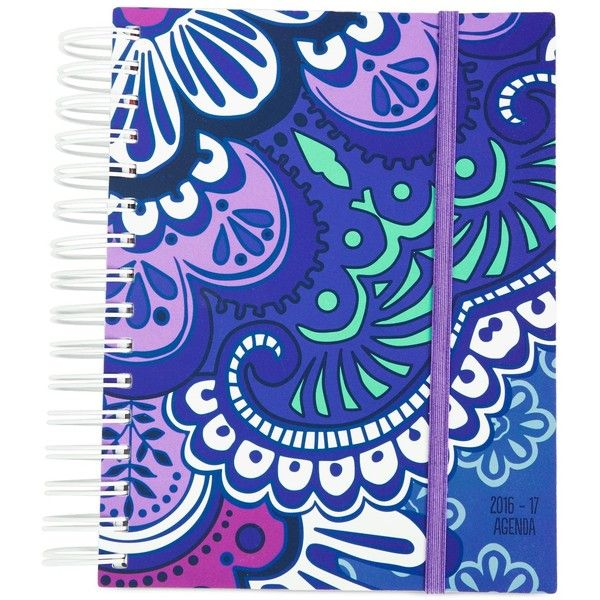 Vera Bradley Student Agenda in Lilac Tapestry ($18) ❤ liked on Polyvore featuring home, home decor, stationery and lilac tapestry