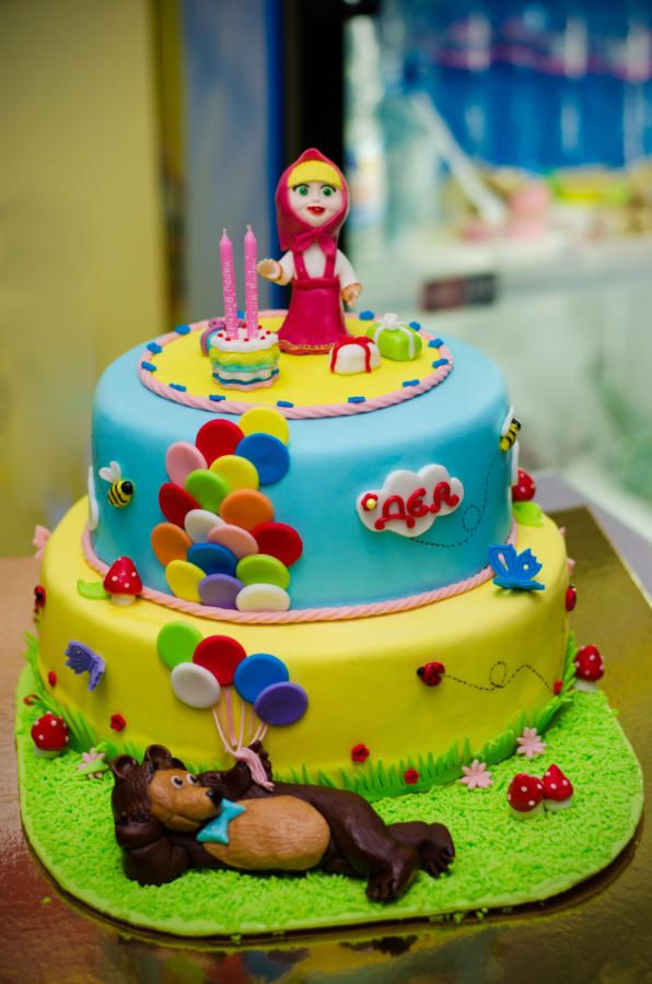 23 best Masha and the bear Cake Cupcakes Cookies images on