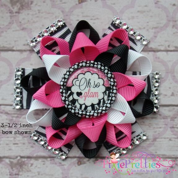 Oh So Glam Loopy Flower Bow {Available in 5 Sizes}