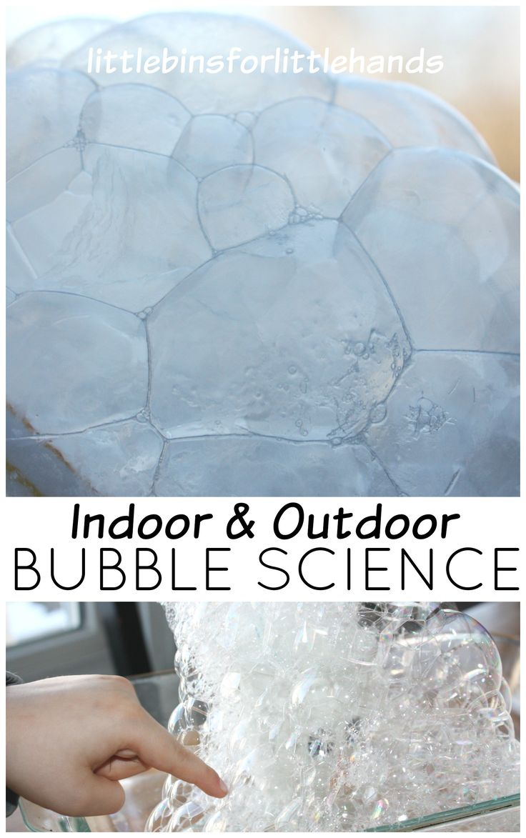 Freezing bubbles are super fun for Winter science play. Freezing bubbles are simple and fun for playful learning and bubble science.