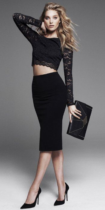 Have to Have: Lace Cropped Top + High-Waist Skirt #EXPRESS