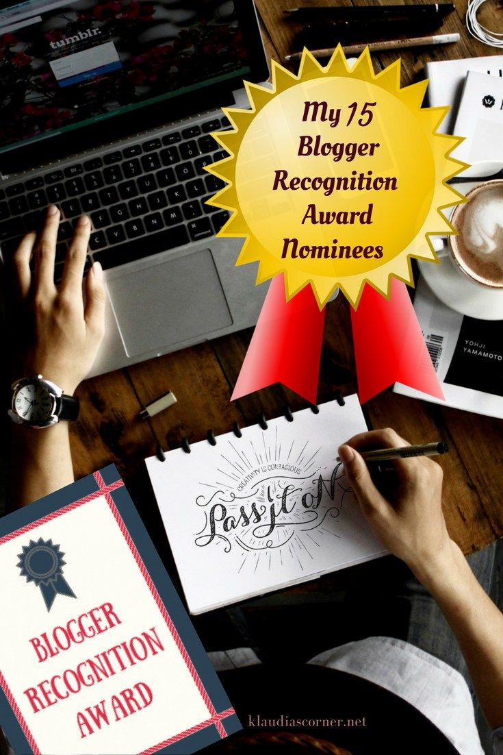 And The Blogger Recognition Award Goes To...