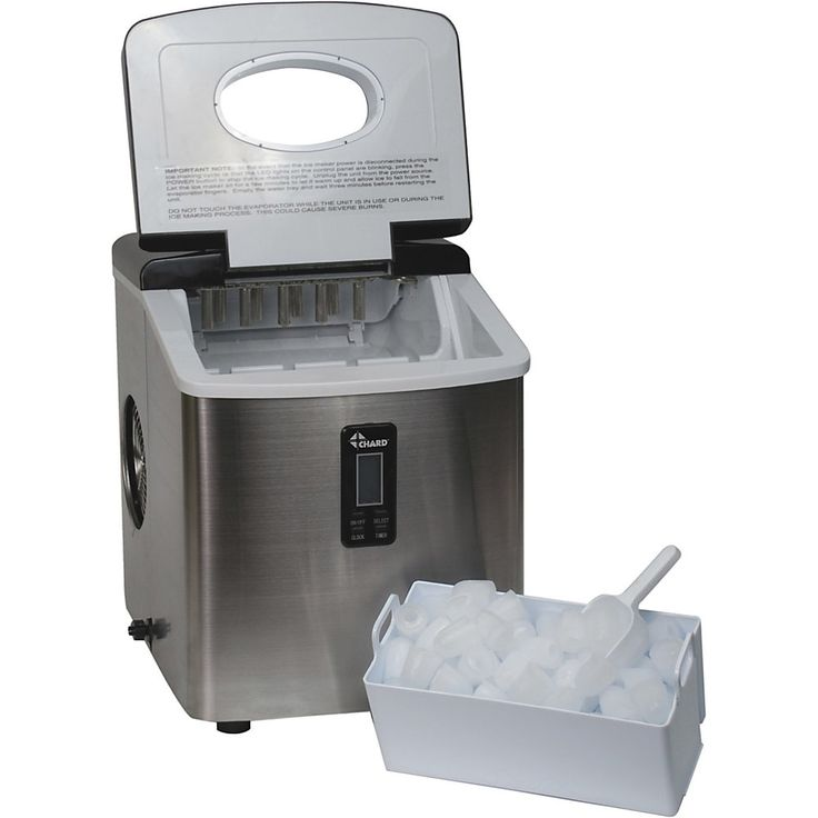 Chard stainless steel ice maker 35 lb per day 2 lb