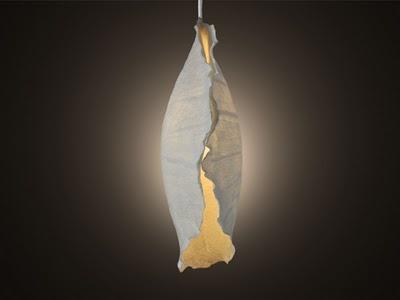 Kietsu: Conch Pendant Light Handmade felt using non-mulesed West Australian Merino wool