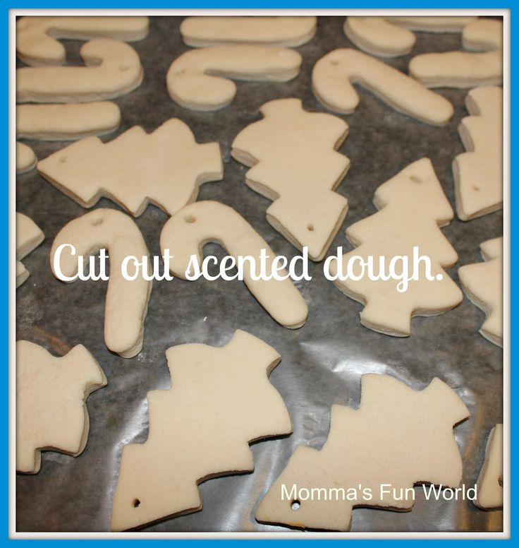 Make your own scented salt dough garland.  We hav…