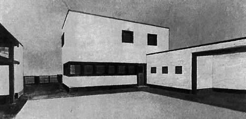 karl schneider joiner s workshop and residence hamburg germany 1924 architecture. Black Bedroom Furniture Sets. Home Design Ideas