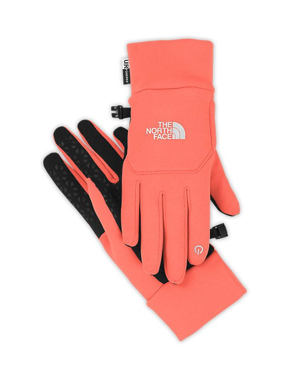 The North Face E-tip Gloves in Coral. These would be so nice because my fingers are always cold. Then I wouldn't have to take them off to get on my phone.