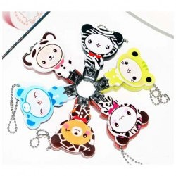 $1.96 New In Corean Lovely and Practical Style Cartoon Pattern Embellished Nail Scissors