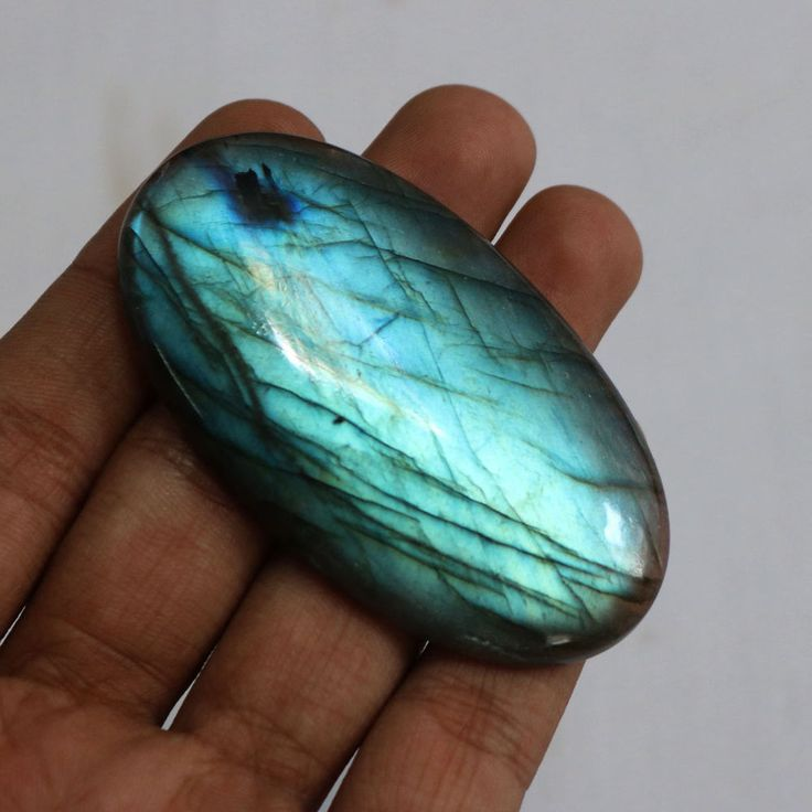1Pcs 195Cts. 74x40mm 100%Natural AAA+++ Labradorite Blue Fire Oval Rare Gemstone #Unbranded