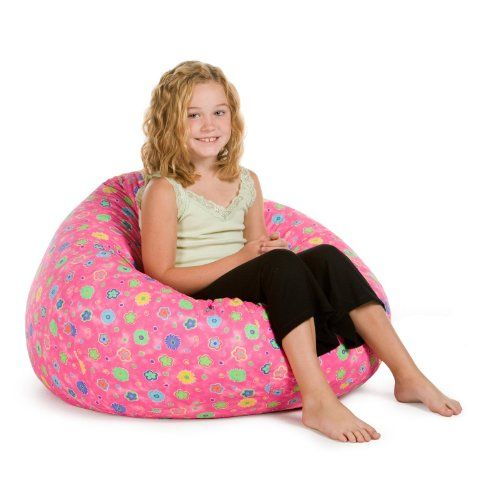 Elite Medium Pink Flowers Teardrop Bean Bag Chair What We Like About This ChairYour