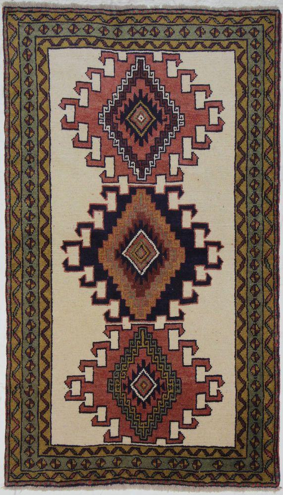Kurdi  Nomaden  Handgeknüpft  Perser Teppich Rugs  190 x 109  cm tapis orient