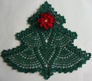 FREE DIAGRAM ~ C ~ 444 ~ UNABLE TO FIND NOW ~ CHRISTMAS TREE DOILY PHOTO WITH DIAGRAM ~