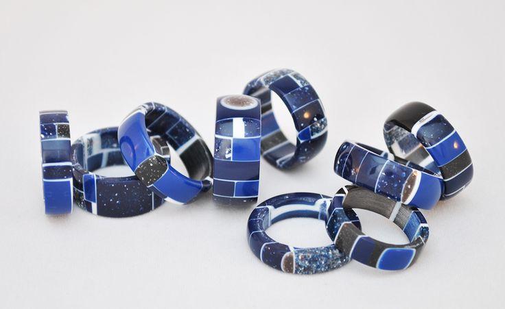 blue Corian ring lab@francoeccel.com #francoeccel