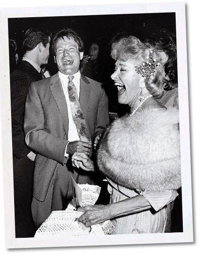 Robin Williams with his mother, Laurie Williams, at the premiere of 'Moscow on the Hudson' (1984)