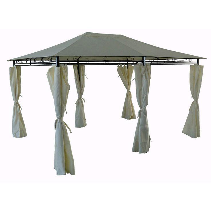 "Tonnelle-Pergola ""Rosita"" beige en polyester - 4 x 3 x 2.6 m - 1290_76462 - Jardin piscine"