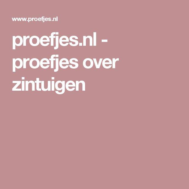 proefjes.nl - proefjes over zintuigen