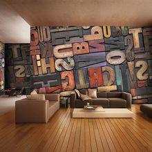 3D Gigante Foto Wallpaper Número Carta Personalidad Mural wallpaper Sofá pared Del ajuste Dormitorio Pasillo decoración de Pared Arte Decoración